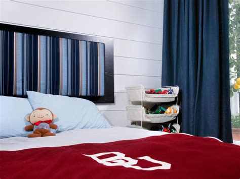 simply stunning little boy s room from brittanymakes one of a kind kids headboard ideas hgtv