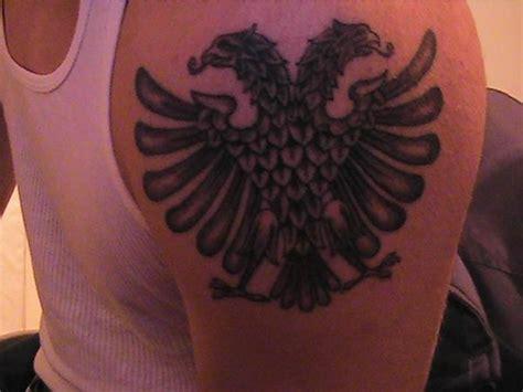 albanian eagle tattoo albanian tironsi eagle tattoos tattoomagz