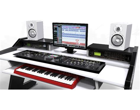 small recording studio desk beat desk all black studio desk workstation furniture