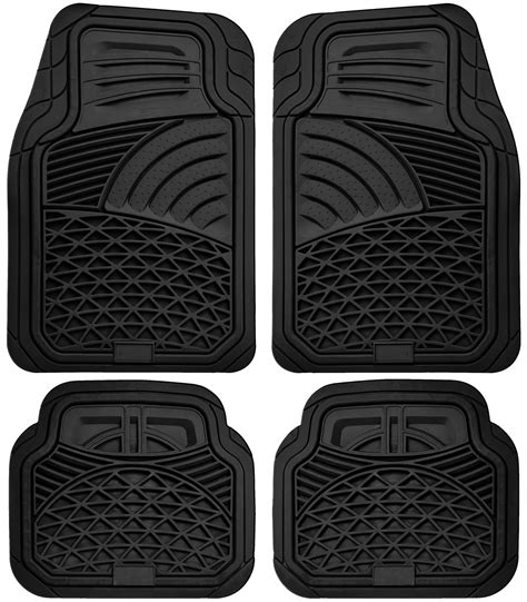 Car Floor Mats All Weather by Car Floor Mats For All Weather Rubber 4pc Set Tactical Fit Heavy Duty Black Ebay