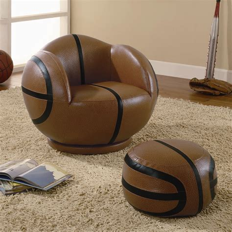 basketball chair and ottoman sports chairs small basketball chair and ottoman