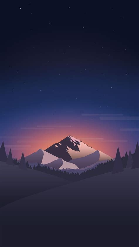 wallpaper android landscape mountain in night tap for landscape in material design