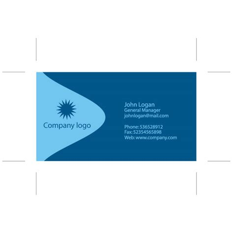 illustrator blue card design download at vectorportal