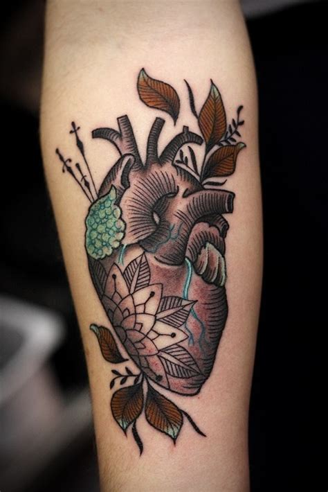anatomical heart tattoo pairodicetattoos com