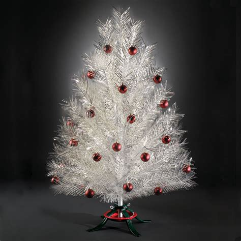aluminum christmas trees made in usa the classic aluminum tree hammacher schlemmer