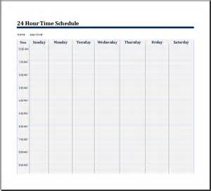 hours schedule template 24 hour schedule template printable calendar template 2016