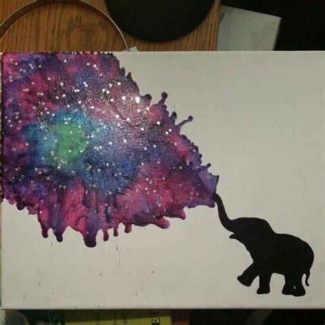 watercolor crayon tattoos elephant galaxy crayon melting diy follow me or my