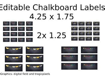 Free Editable Chalkboard Labels custom editable chalkboard labels by miss nelson tpt