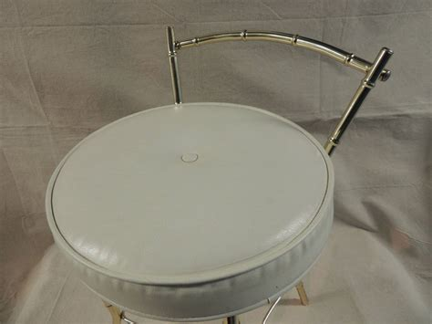 Vanity Stool Cushion by Vintage Art Deco Vanity Stool With Round Cushion At 1stdibs