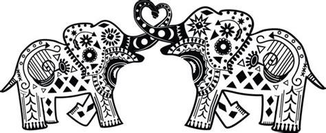 elephant mandala coloring pages easy items similar to intertwined mandala elephants vinyl