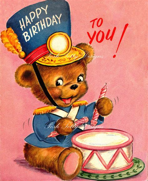 happy birthday to you 1950s vintage greetings by
