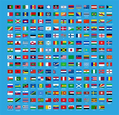 flags of the world without names vector set of flags of world free vector graphics all