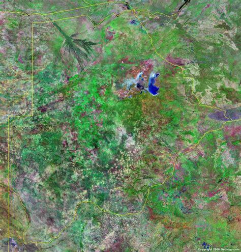 botswana map  satellite image
