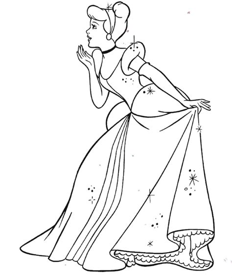 disney princess cinderella coloring pages coloring home