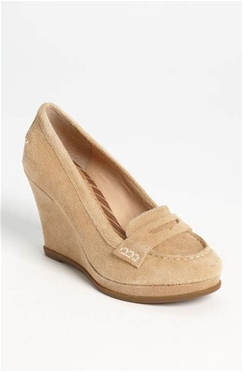 sperry top sider wedge loafer sperry top sider windstar wedge loafer in beige