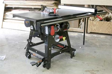 Sawstop Giveaway - sawstop contractor saw assembly popular woodworking