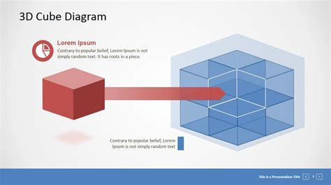 powerpoint cube template editable 3d cube presentation template slidemodel