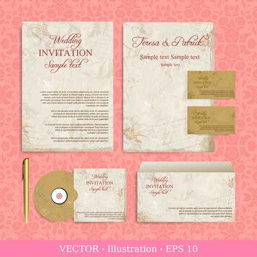 free download wedding invitation designs free vector