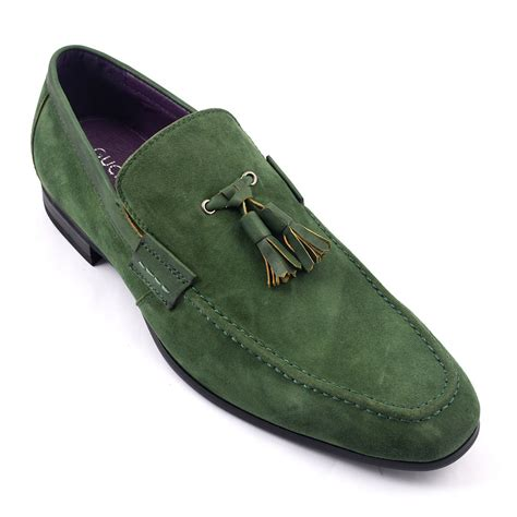 green mens loafers find olive suede tassel loafer gucinari mens loafers