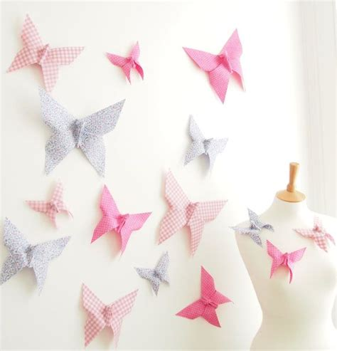 Origami Decor - origami butterfly wall decor for nursery bedroom 15