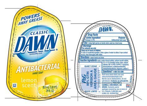 label design for dishwashing liquid dawn classic lemon ab
