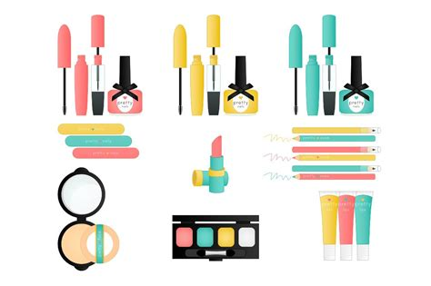 pretty things makeup clip art illustrations creative