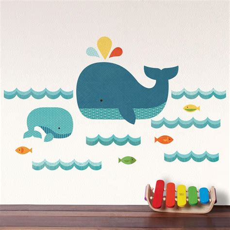 wall sticker baby whale baby wall decal walldecals