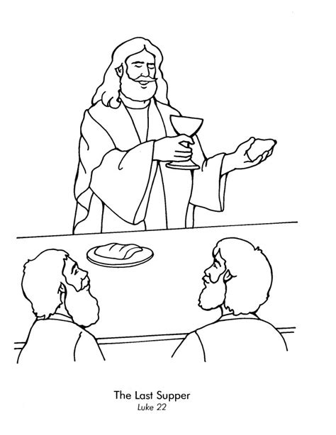 coloring page last supper holy thursday coloring pages az coloring pages