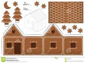 Cracker House Plans gingerbread house paper model stock vector image 62444816