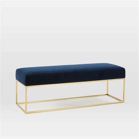 bench west elm box frame bench west elm