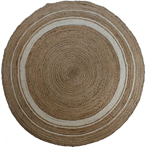 Buy Jute 48 Inch Round Rug In Natural From Bed Bath Beyond 48 Inch Rug