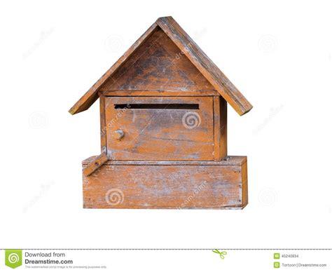 cassetta lettere legno cassetta delle lettere di legno su bianco isolato