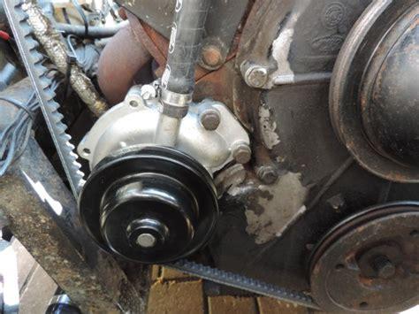 scow pump mgf diesel conversion exhaust options external
