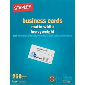 business cards from staples staples 174 laser business cards white 250 pk staples 174