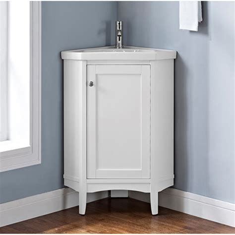 Corner Bathroom Vanity Ideas Fairmont Designs Shaker Americana 26 Quot Corner Vanity Polar White Free Shipping Modern Bathroom