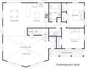 House Design Layout by Blueprint Software Try Smartdraw Free