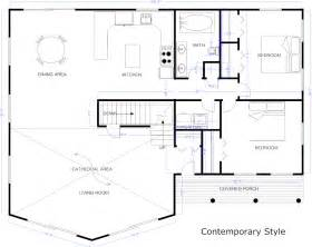 example blueprint created with smartdraw house blueprints