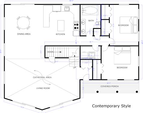 exle of floor plan drawing blueprint software try smartdraw free
