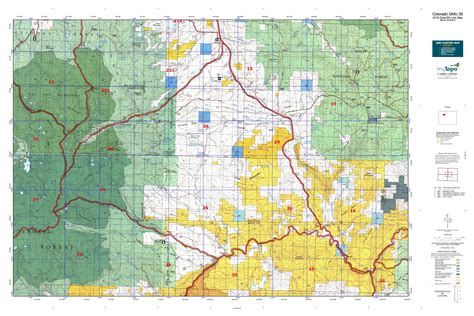 map of colorado gmu colorado gmu 26 map mytopo