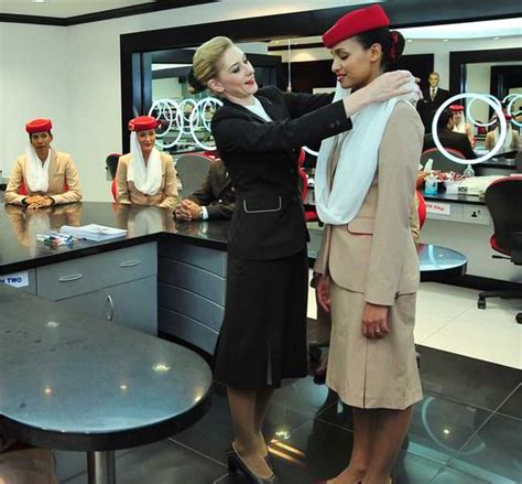 emirates uk office sky high glamour cabin crew share their top tips for
