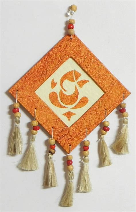Handmade Wall Hanging Ideas - ganesha wall hanging handmade paper crafty idea