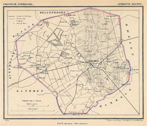 holten netherlands map kuyper gemeentekaart gemeente holten 1865ca