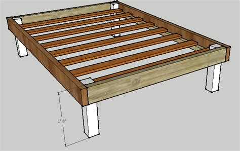 diy wood bed frame plans woodguides