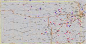 State Of Kansas Map by Kansas Fishing Map Locator