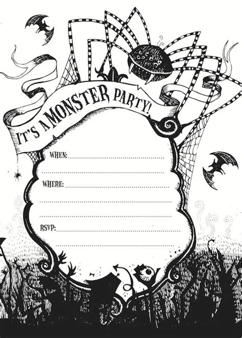free printable halloween borders invitations free printable halloween party invite giveaway hello