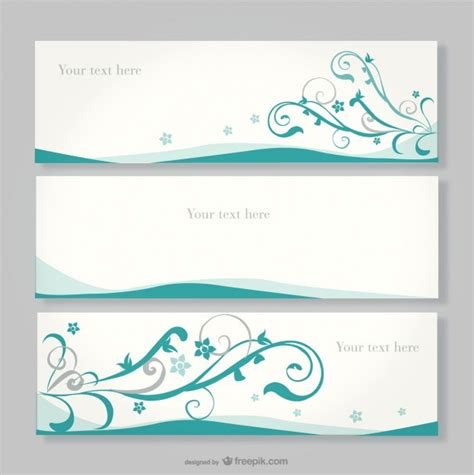 design banner simple floral banner design vector free download