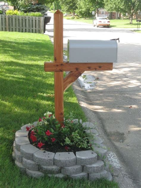 mailbox flower bed how to make your street side mailbox look pretty add a