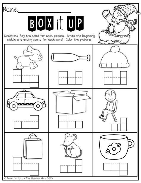 Elkonin Boxes Worksheets by Box Up The Words Sound By Sound For Who Are