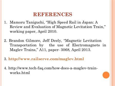 research paper on maglev maglev trains