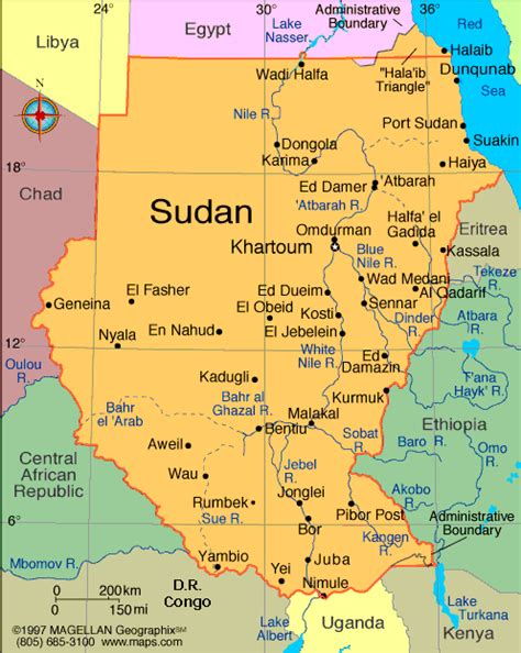 map of sudan cape to cairo 2011 sudan